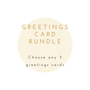 Greetings card bundle - choose any 5 cards