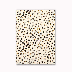 A5 Layflat notebook lined journal cheetah animal spot OTA bound contents pages numbered pages
