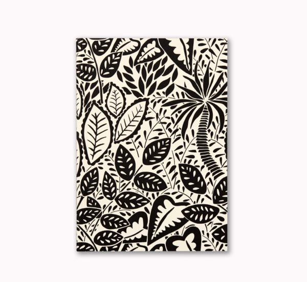 A5 Layflat notebook ruled journal botanical jungle cover OTA bound good for a leftie