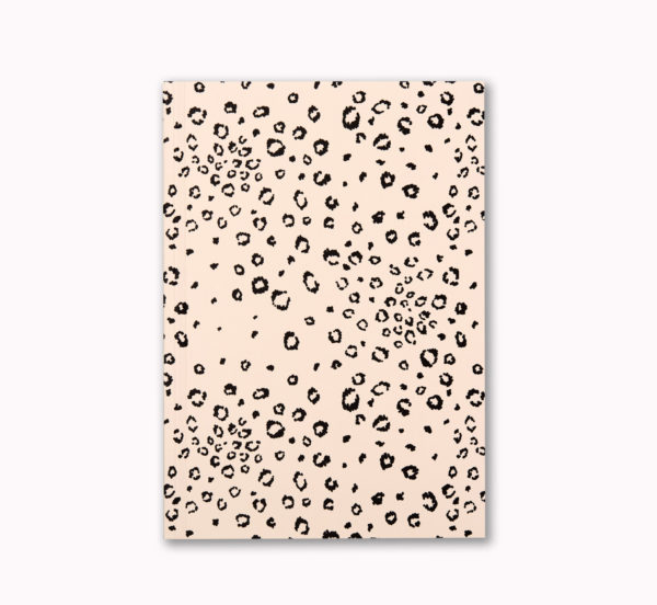 A5 Layflat notebook lined journal cheetah spot cover OTA bound good for a leftie