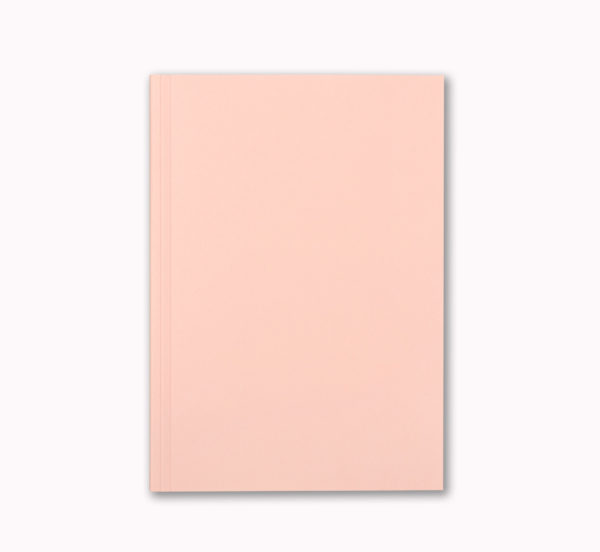 A5 Layflat notebook lined journal soft pink cover OTA bound