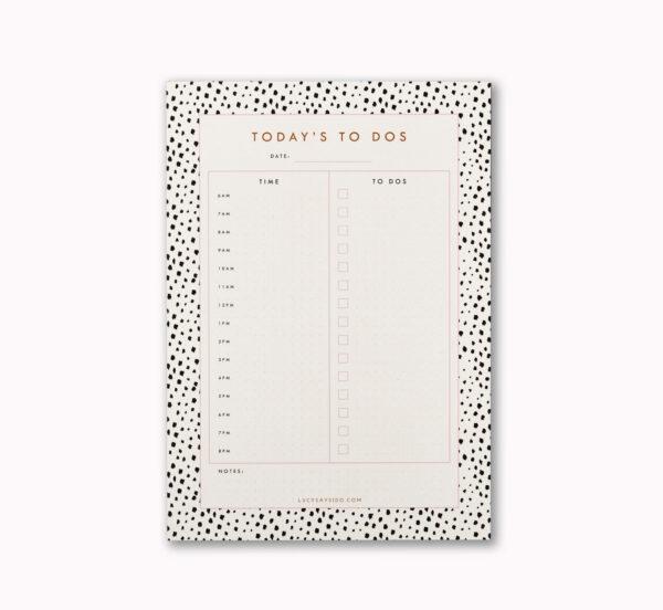LSID A5 day planner desk notepad mini dalmatian spot animal print