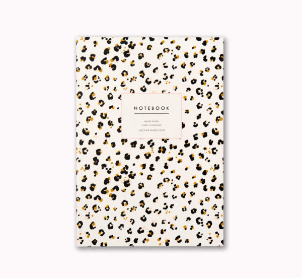 A5 notebook cheetah animal print cover ruled pages