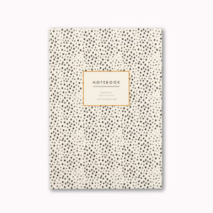 Pretty A5 notebook mini dalmatian spot animal print design cover 96 ruled pages