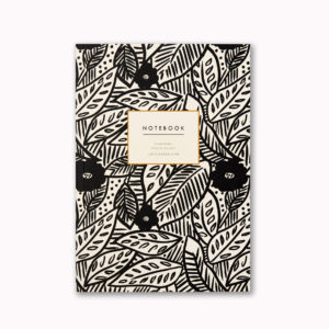Luxury A5 notebook tropical botanical pattern print design 96 ruled pages