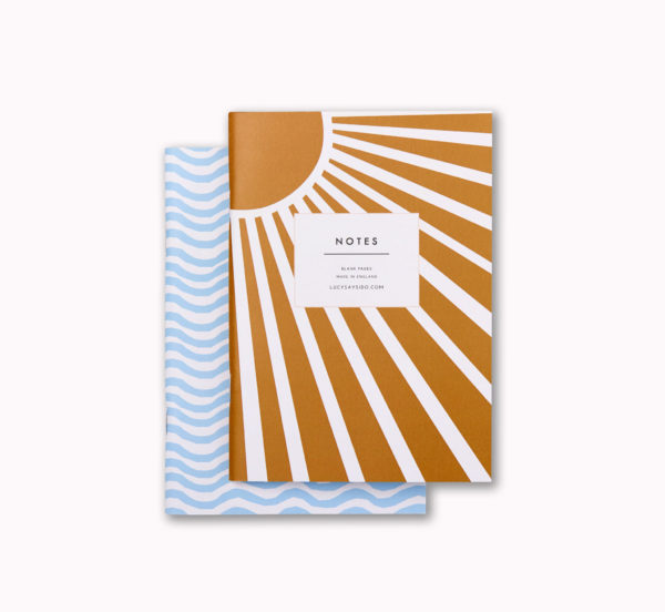 A6 mini softcover pocket notebook set sea Waves and holiday sunshine