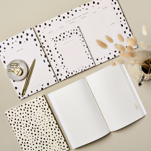 Lucy says I do notebooks and notepads desk stationery animal print portland stone
