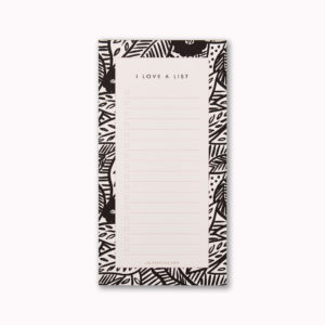 to do list notepad small gift monochrome tropical botanical gift