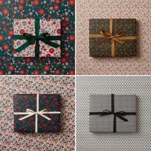 assorted christmas gift wrap double sided wrapping paper