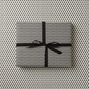 beautiful modern simple Christmas Wrapping paper geometric monochrome christmas tree nordic sprice design double sided gift wrap sm