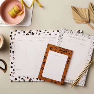 stationery bundle Desktop Planning, Notes and Lists Bundle 6 – A4 Week planner, A5 Notepad, A6 list pad
